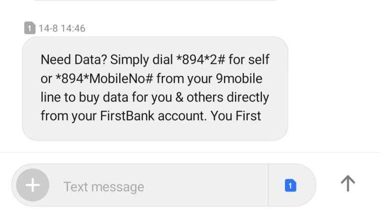 firstbank text message